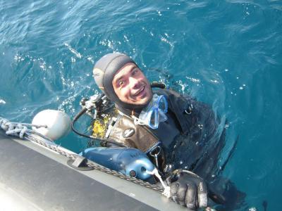 Un plongeur heureux